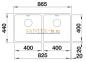 Мойка BLANCO ANDANO 400/400-U нержавеющая сталь зеркальная полировка 0
