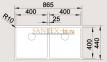 Мойка BLANCO CLARON 400/400-U нержавеющая сталь зеркальная полировка 0