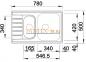 Мойка BLANCO LIVIT 6 S Compact нержавеющая сталь