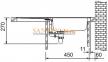 Мойка FRANKE EUROSTAR ETN 614 нержавеющая сталь матовая выпуск 1 1/2