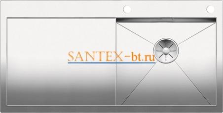Мойка BLANCO ZEROX 5S-IF/А с клапаном-автоматом, чаша справа, нержавеющая сталь зеркальная полировка