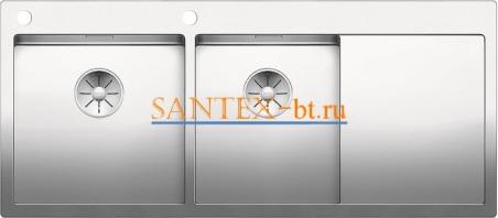 Мойка BLANCO CLARON 8S-IF/А с клапаном-автоматом, чаша слева, нержавеющая сталь зеркальная полировка