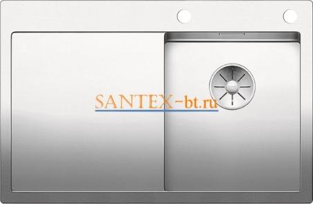 Мойка BLANCO CLARON 4S-IF/А с клапаном-автоматом, чаша справа, нержавеющая сталь зеркальная полировка