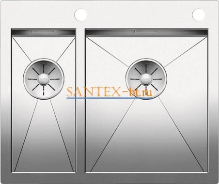 Мойка BLANCO ZEROX 340/180-IF/А с клапаном-автоматом нержавеющая сталь зеркальная полировка