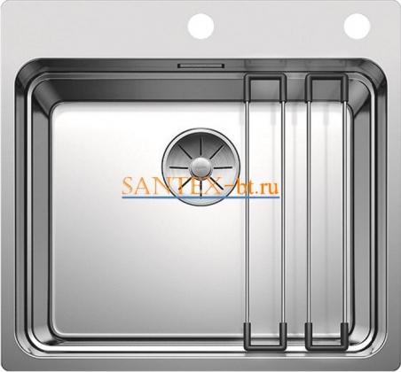 Мойка BLANCO ETAGON 500-IF/A с клапаном-автоматом, нержавеющая сталь с зеркальной полировкой