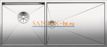 Мойка BLANCO ZEROX 400/550-T-IF чаша слева, нержавеющая сталь зеркальная полировка