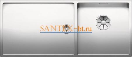 Мойка BLANCO CLARON 400/550-Т-IF чаша справа, нержавеющая сталь зеркальная полировка