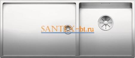 Мойка BLANCO CLARON 400/550-Т-U чаша справа, нержавеющая сталь зеркальная полировка