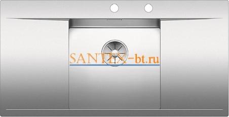Мойка BLANCO FLOW 45 S-IF с клапаном-автоматом нержавеющая сталь зеркальная полировка