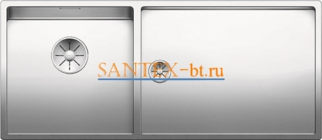 Мойка BLANCO CLARON 400/550-Т-IF чаша слева, нержавеющая сталь зеркальная полировка
