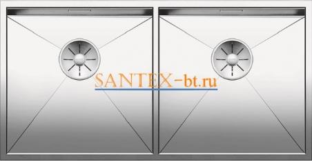 Мойка BLANCO ZEROX 400/400-U нержавеющая сталь зеркальная полировка