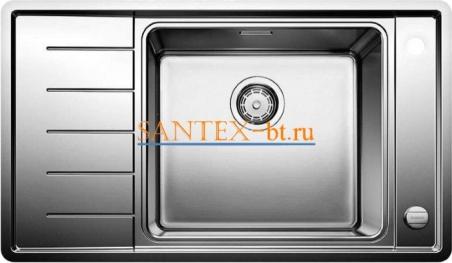 Мойка BLANCO ANDANO XL 6S-IF Compact с клапаном-автоматом, чаша справа, нержавеющая сталь зеркальная полировка