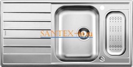 Мойка BLANCO LIVIT 6 S Centric с клапаном-автоматом нержавеющая сталь полированная