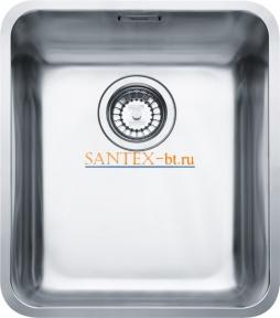 Мойка FRANKE KUBUS KBX 110-34 с клапаном-автоматом нержавеющая сталь полированная