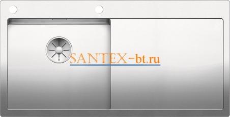 Мойка BLANCO CLARON 5S-IF/А с клапаном-автоматом, чаша слева, нержавеющая сталь зеркальная полировка