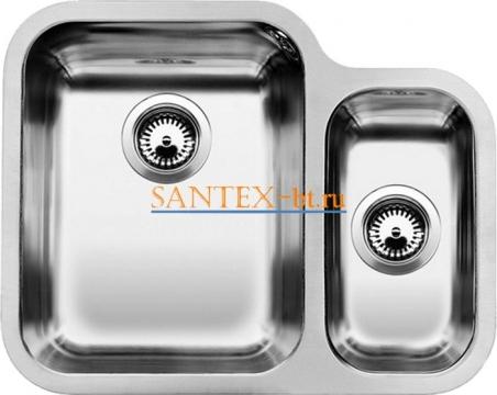 Мойка BLANCO YPSILON 550-U чаша слева, нержавеющая сталь полированная