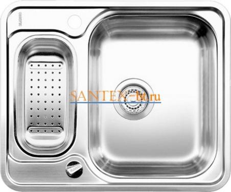 Мойка BLANCO LANTOS 6-IF с клапаном-автоматом нержавеющая сталь полированная