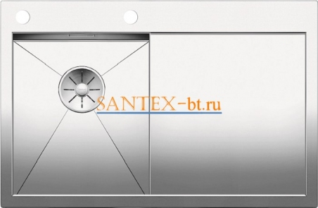 Мойка BLANCO ZEROX 4S-IF/А с клапаном-автоматом, чаша слева, нержавеющая сталь зеркальная полировка