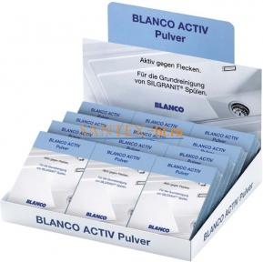 Чистящие средство BLANCO ACTIV для моек из материала SILGRANIT 12 упаковок по 3 пакетика по 25 г