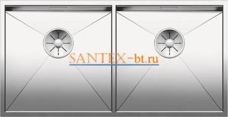 Мойка BLANCO ZEROX 400/400-IF нержавеющая сталь зеркальная полировка