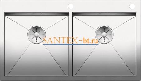 Мойка BLANCO ZEROX 400/400-IF/А с клапаном-автоматом нержавеющая сталь зеркальная полировка