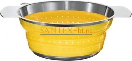 Коландер ROESLE 20 см нержавеющая сталь/силикон, желтый
