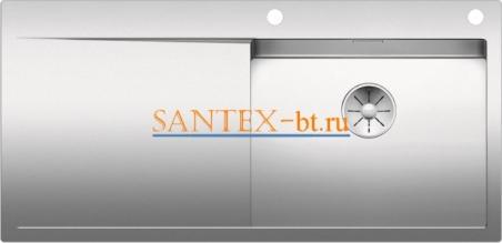 Мойка BLANCO FLOW XL 6S-IF с клапаном-автоматом нержавеющая сталь зеркальная полировка