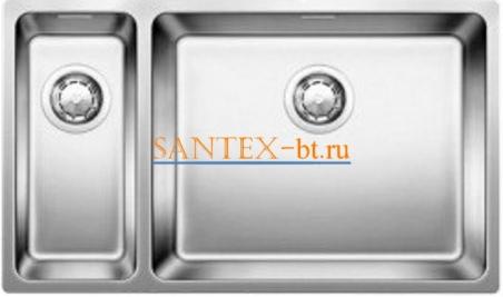 Мойка BLANCO ANDANO 500/180-U чаша справа, нержавеющая сталь полированная