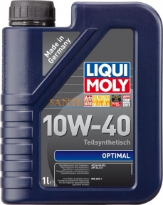 Моторное масло LIQUI MOLY Optimal 10W-40 1 л