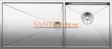 Мойка BLANCO ZEROX 400/550-T-U чаша справа, нержавеющая сталь зеркальная полировка