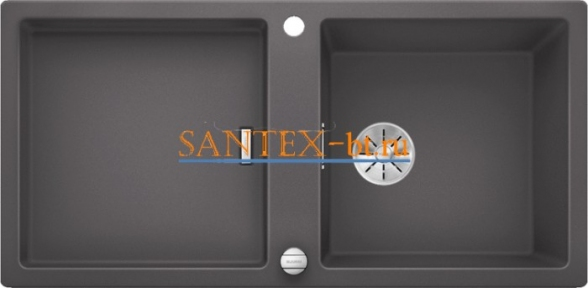 Мойка BLANCO ADON XL 6 S SILGRANIT с клапаном-автоматом InFino