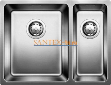 Мойка BLANCO ANDANO 340/180-U с клапаном-автоматом, чаша слева, нержавеющая сталь зеркальная полировка