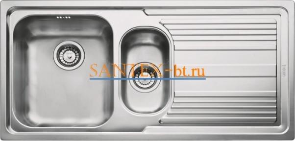 Мойка FRANKE LOGICA LINE LLX 651 чаша слева нержавеющая сталь полированная