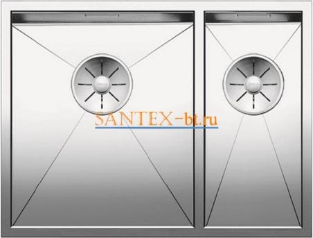 Мойка BLANCO ZEROX 340/180-U чаша слева, нержавеющая сталь зеркальная полировка