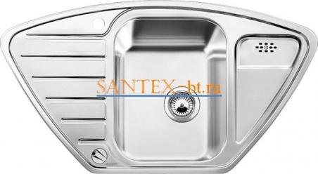 Мойка BLANCO LANTOS 9E-IF с клапаном-автоматом нержавеющая сталь полированная