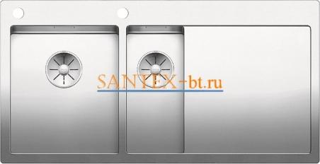 Мойка BLANCO CLARON 6S-IF/А с клапаном-автоматом, чаша слева, нержавеющая сталь зеркальная полировка