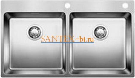 Мойка BLANCO ANDANO 400/400-IF-A с клапаном-автоматом, нержавеющая сталь зеркальная полировка