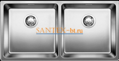 Мойка BLANCO ANDANO 400/400-IF с клапаном-автоматом, нержавеющая сталь зеркальная полировка