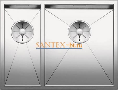 Мойка BLANCO ZEROX 340/180-U чаша справа, нержавеющая сталь зеркальная полировка