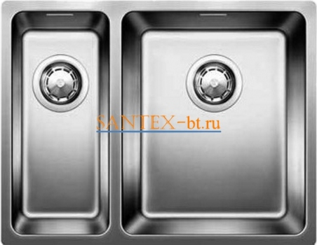 Мойка BLANCO ANDANO 340/180-U чаша справа, нержавеющая сталь зеркальная полировка