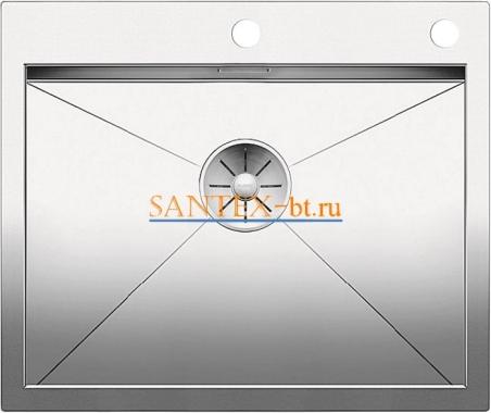 Мойка BLANCO ZEROX 550-IF/А с клапаном-автоматом нержавеющая сталь зеркальная полировка