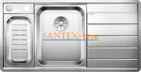 Мойка BLANCO AXIS III 6 S-IF с клапаном-автоматом, чаша слева, нержавеющая сталь зеркальная полировка