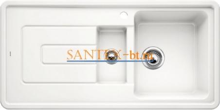 Мойка BLANCO TOLON 6 S КЕРАМИКА глянцевый белый