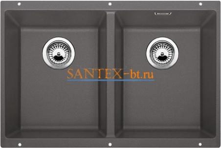 Мойка BLANCO SUBLINE 350/350-U SILGRANIT с клапаном-автоматом