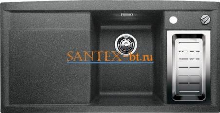 Мойка BLANCO AXIA II 6 S SILGRANIT с клапаном-автоматом, чаша справа