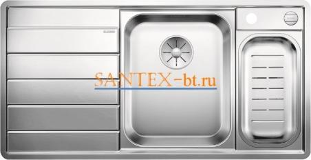 Мойка BLANCO AXIS III 6 S-IF с клапаном-автоматом, чаша справа, нержавеющая сталь зеркальная полировка