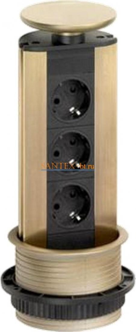 Встраиваемый модуль электрических розеток EVOLINE Port Standart 931.01.157 пластик