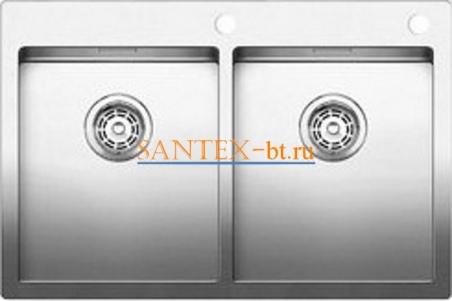 Мойка BLANCO ANDANO 340/340-IF-A с клапаном-автоматом, нержавеющая сталь зеркальная полировка