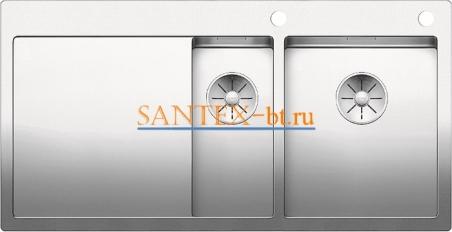 Мойка BLANCO CLARON 6S-IF/А с клапаном-автоматом, чаша справа, нержавеющая сталь зеркальная полировка