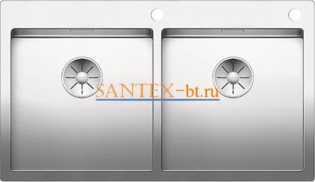 Мойка BLANCO CLARON 400/400-IF/А с клапаном-автоматом, нержавеющая сталь зеркальная полировка